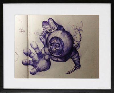 astronaut sketches sinntraeger poster druck Malerei art steve bauer leipzig zeichnung