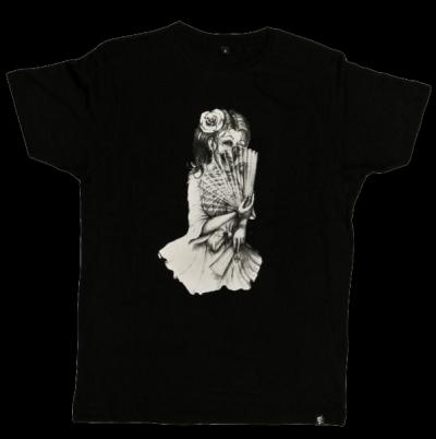 fächermädchen t-shirt sinntraeger art steve bauer leipzig