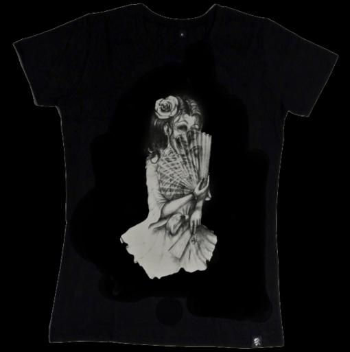 fächermädchen Girlie t-shirt sinntraeger art steve bauer leipzig