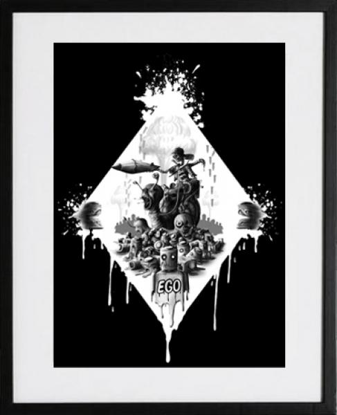 märtyrer der gerechtigkeit sinntraeger poster druck leinwand digitale illustration art steve bauer leipzig gerahmt