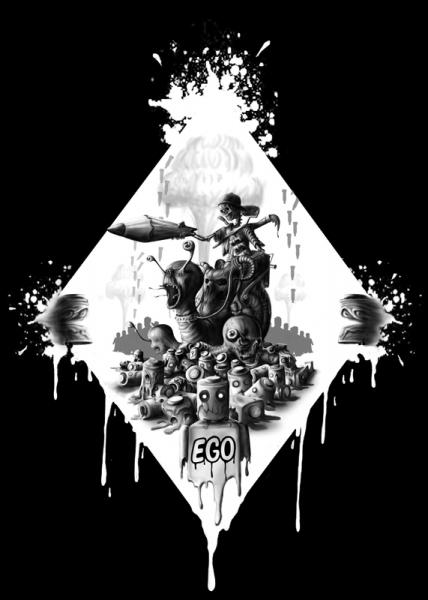 märtyrer der gerechtigkeit sinntraeger poster druck leinwand digitale illustration art steve bauer leipzig