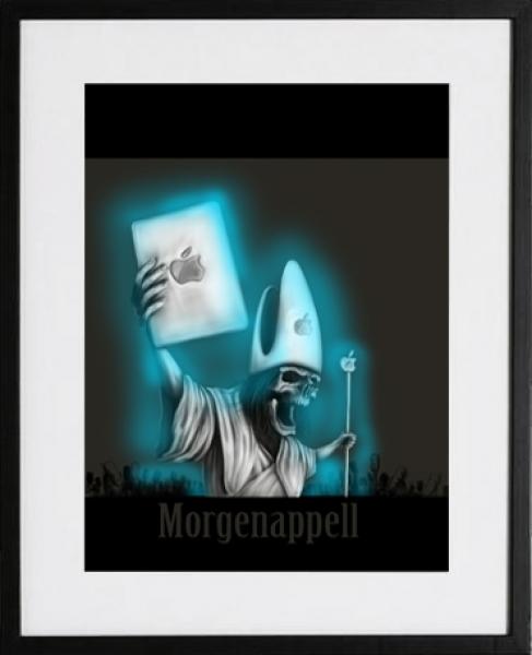 morgenappell sinntraeger poster druck leinwand digitale illustration art steve bauer leipzig gerahmt