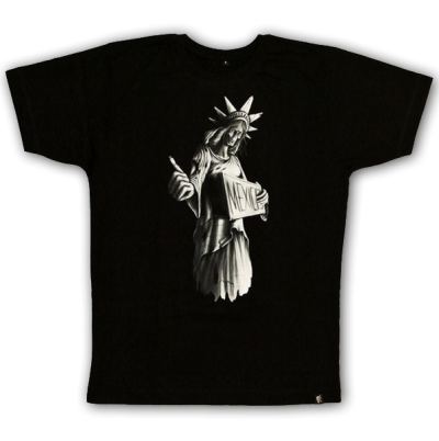 """Signs of Liberty"" T-shirt sinntraeger art steve bauer leipzig"