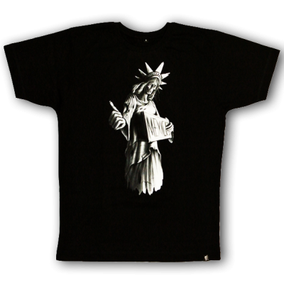 """Signs of Liberty"" Girlie T-shirt sinntraeger art steve bauer leipzig"