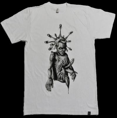 """T-shirt """"Sinntraeger"""" weiss Art Steve Bauer leipzig"""
